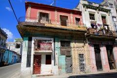 Decaying but Colorful Havana Neighborhood Stock Photo