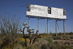 Decaying Desert Sign Royalty Free Stock Photo