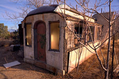 Decaying Diner. A Dilapidated old Diner made from a Railroad car at Sunset Stock Image