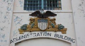 Decaying federal building Alcatraz Stock Photo