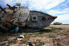 Decaying Fishing Boats Stock Image