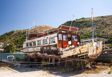 Decaying fishing boats Stock Photos