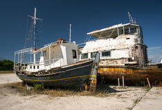 Decaying fishing boats Royalty Free Stock Images