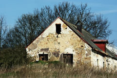 Decaying house. View of decaying agricultural house Royalty Free Stock Images