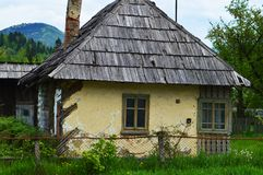 Decaying house in Maramures, Romania Royalty Free Stock Image