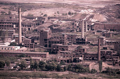 Decaying Industrial Landscape royalty free stock images