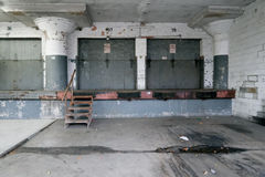 Decaying loading bay Royalty Free Stock Photography