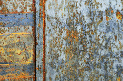 Decaying metal. Rusty sheet of metal, partly still shining. Useful for Overlay PS Layer mode Stock Photography
