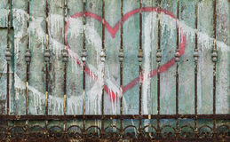 Decaying metal fence Stock Photos