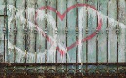 Decaying metal fence Stock Photos