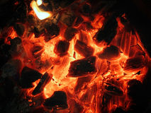 Decaying red coals Royalty Free Stock Image