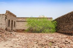 Decaying ruins of Derawar Fort Bahawalpur Pakistan. Decaying ruins of Derawar Fort in Bahawalpur Pakistan stock images