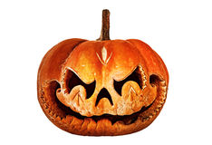 Decaying, scary Halloween pumpkin resembling a Chinese dragon he Royalty Free Stock Photography