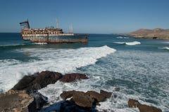 Decaying Ship In The Ocean Stock Photos