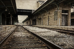 Decaying Train Station Royalty Free Stock Photo
