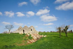 Decaying trulli, conical shaped houses Stock Image
