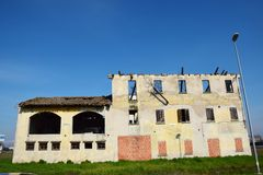 Decaying white walls Veneto, Italy Stock Images