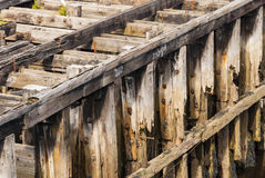 Decaying Wooden Pier Royalty Free Stock Photos