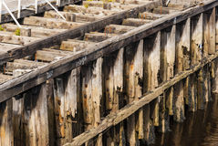 Decaying Wooden Pier Stock Photo