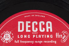 Decca Records Logo stock photo