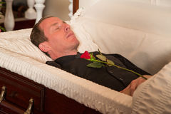 Deceased man Royalty Free Stock Images