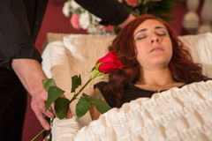 Deceased woman Stock Image