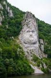 decebal国王岩石雕塑 免版税库存图片
