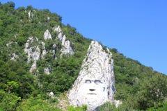 Decebal in de bergen wordt gesneden die Stock Afbeelding