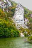 Decebal la statua della roccia fotografia stock libera da diritti