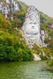 Decebal the rock statue Royalty Free Stock Photography