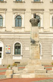 Decebal` s standbeeld in Union Square Timisoara Stock Foto