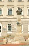 Decebal ` s statua w zjednoczenie kwadracie Timisoara zdjęcie stock