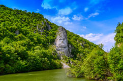 Decebalus ed il Danubio Fotografie Stock