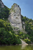Decebalus statue on Danube river Royalty Free Stock Photography