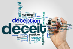 Deceit word cloud concept on grey background Royalty Free Stock Photography