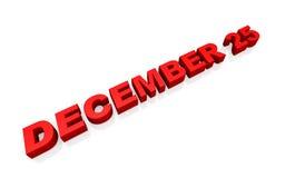 December 25 Stock Image