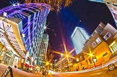 December 27, 2014, charlotte, nc, usa - charlotte skyline near r Royalty Free Stock Images