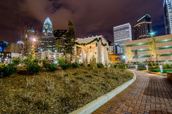 December 27, 2014, charlotte, nc, usa - charlotte skyline near r Royalty Free Stock Photography