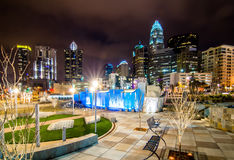 December 27, 2014, charlotte, nc, usa - charlotte skyline near r Royalty Free Stock Photo