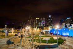 December 27, 2014, charlotte, nc, usa - charlotte skyline near r Royalty Free Stock Photo