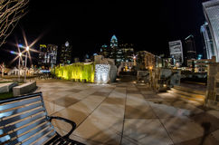 December 27, 2014, charlotte, nc, usa - charlotte skyline near r Stock Photography