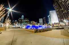 December 27, 2014, charlotte, nc, usa - charlotte skyline near r Royalty Free Stock Images