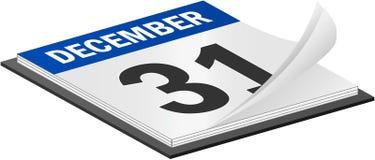 December 31th. 3D Vector Calendar December 31th Last Day of the Year Stock Illustration