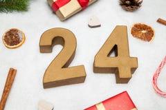 24 december Stock Foto's