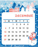 December. Decorative Frame for calendar - December Royalty Free Stock Image