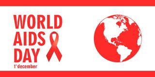 December Aids Awareness. World  Day concept. Vector illustration EPS10 Royalty Free Stock Image