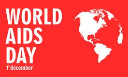December Aids Awareness. World  Day concept. Vector illustration EPS10 Royalty Free Stock Photo