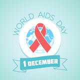 1 december AIDS. Calendar for each day on december 1. holiday - world aids day. icon in the linear style. red ribbon Royalty Free Illustration
