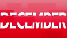 December animation stock video