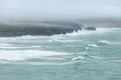 Coastline Storm, Constantine Bay, Cornwall royalty free stock images